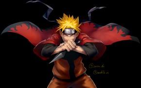 Картинка парень, Наруто, Naruto, стойка, Uzumaki Naruto