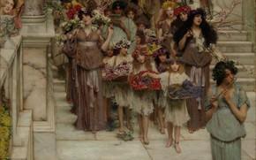 Картинка Весна, Лос-Анджелес, Los Angeles, Spring, Lawrence Alma-Tadema, Лоуренс Альма-Тадема, 1894, британский живописец, British painter, Центр …