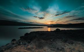 Картинка закат, Шотландия, Scotland