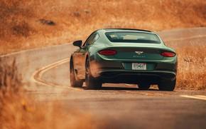 Картинка дорога, купе, Bentley, вид сзади, 2019, Continental GT V8