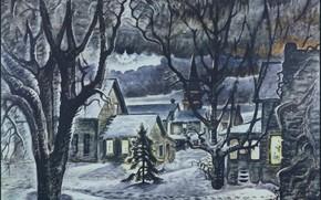 Картинка Charles Ephraim Burchfield, The Star, 1941–48