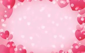 Картинка сердечки, открытка, День Святого Валентина
