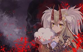 Картинка девушка, череп, демон, Fate / Grand Order, Судьба великая кампания