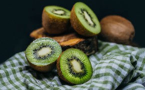 Обои киви, фрукт, ткань, фрукты, семечки