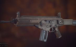 Картинка рендеринг, оружие, Автомат, weapon, render, Беретта, Beretta, штурмовая винтовка, Assault rifle, Beretta ARX 160, 160, …