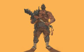 Картинка Art, Gladiator, Weapons, Minimalism, Characters, Character, Costis Chatzidakis, Cudgel
