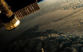 Картинка космос, полёт, плоская земля