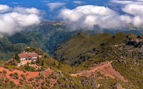 Картинка облака, горы, Мадейра