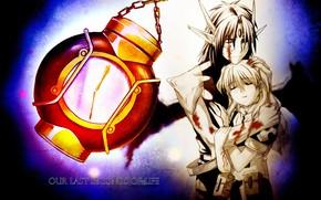 Картинка романтика, аниме, пара, Chrno Crusade