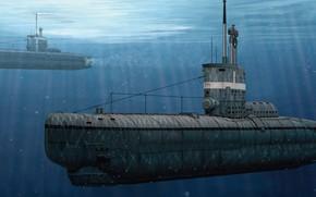 Картинка Германия, подводная лодка, U-Boot-Klasse XXIII, кригсмарине, Su Lei, German Type XXIII U-Boat Coastal Submarine