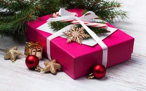 Картинка праздник, подарок, игрушки, новый год, Olena Rudo