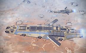 Картинка поверхность, корабли, номер, полёт, Крейсер Эверест
