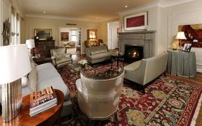 Картинка интерьер, камин, гостиная, округ Колумбия, Северо-западный Вашингтон, Northwest Washington
