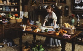 Картинка Art, interior, rendering, kitchen