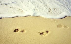 Картинка Beach, Sand, Sea, Mood, Traces