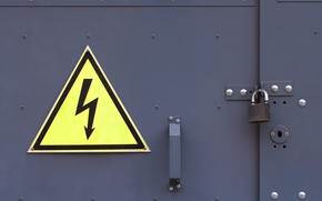 Картинка metal, posters, electrical hazard