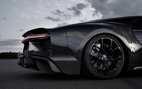 Картинка колесо, Bugatti, задняя часть, гиперкар, Chiron, 2019, Super Sport 300+