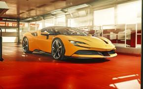 Картинка Желтый, 2019, Ferrari SF90 Stradale