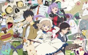 Картинка фэнтези, существа, детектив, персонажи, Kyokou Suiri, Ложные выводы, классический детектив
