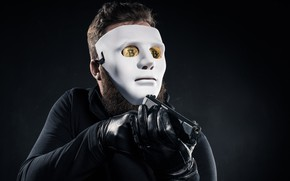 Картинка gun, white, mask