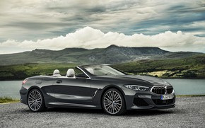 Картинка облака, BMW, стоянка, кабриолет, xDrive, G14, 8-series, 2019, 8er, M850i Convertible