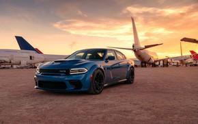 Картинка машина, самолеты, оптика, Dodge, Charger, Hellcat, SRT