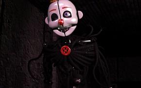 Картинка игра, клоун, пуговица, Five Nights at Freddy's, Пять ночей у Фредди