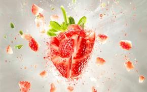 Картинка взрыв, клубника, ягода