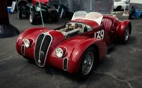Картинка Red, Sportcar, 1939, Spider Corsa, Alfa Romeo 6C 2500 SS