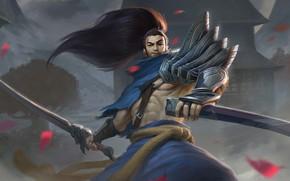 Картинка меч, мужчина, League of Legends, Лига Легенд