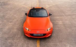 Картинка оранжевый, капот, сверху, Mazda, родстер, MX-5, 30th Anniversary Edition, 2019