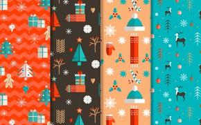 Картинка зима, Новый год, christmas, design, pattern, декор, collection, flat