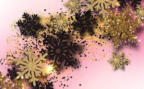 Картинка снежинки, праздник, Новый год