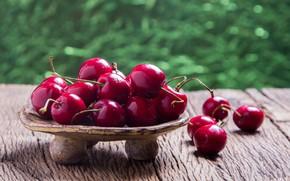 Картинка ягоды, fresh, wood, черешня, спелая, cherry, berries
