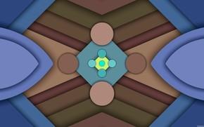 Картинка круги, треугольники, слои