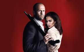 Картинка поза, оружие, Jennifer Lopez, Parker, Jason Statham, Дженнифер Лопес, Паркер, Джейсон Стейтем, Лесли Роджерс