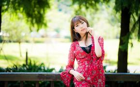 Картинка девушка, азиатка, милашка