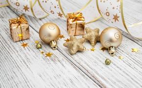 Картинка праздник, игрушки, новый год, рождество, лента, декор, Olena Rudo