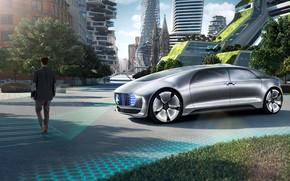 Картинка транспорт, здания, автомобиль, Mercedes Benz. Luxury in Motion