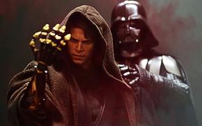 Картинка Star Wars, Рука, Шлем, Darth Vader, Art, Ситх, Дарт Вейдер, Jedi, Concept Art, Sith, Джедай, …