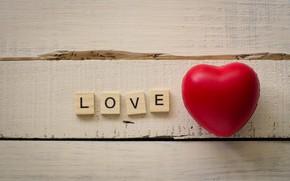 Картинка red, wood, сердце, love, heart, любовь, romantic