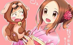Картинка девушка, кукла, Karakai Jouzu no Takagi-san
