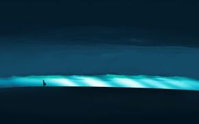 Картинка свет, тучи, девочка, постапокалипсис, by Gracile