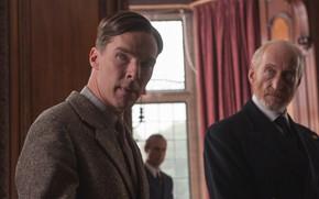 Картинка мужчины, Бенедикт Камбербэтч, Benedict Cumberbatch, кадр из фильма, 2014, The Imitation Game, Игра в имитацию