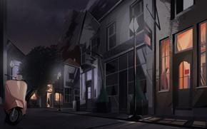 Картинка ночь, город, настроение, арт