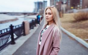 Картинка волосы, Девушка, очки, блондинка, Semyon Semenyakov