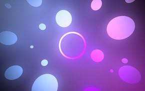 Картинка белый, фиолетовый, абстракция, голубой, круг, градиент, кольцо