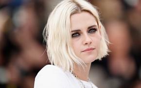 Картинка взгляд, поза, макияж, актриса, блондинка, Kristen Stewart, Кристен Стюарт, фотосессия, hair