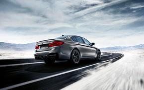 Картинка BMW, сзади, 2018, M5, V8, F90, M5 Competition