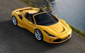 Картинка вода, Ferrari, спорткар, Spider, Ferrari F8